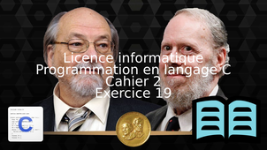 Programmation en langage C - Cahier 2 - Exercice 19